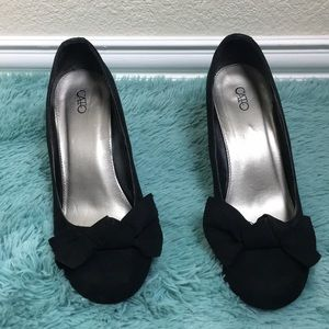 Cato black heels | closed wedges black